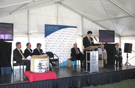 Opening ceremony (Mr.Yasui, Director, Coal Division, Natural Resources and Fuel Department, ANRE, METI)