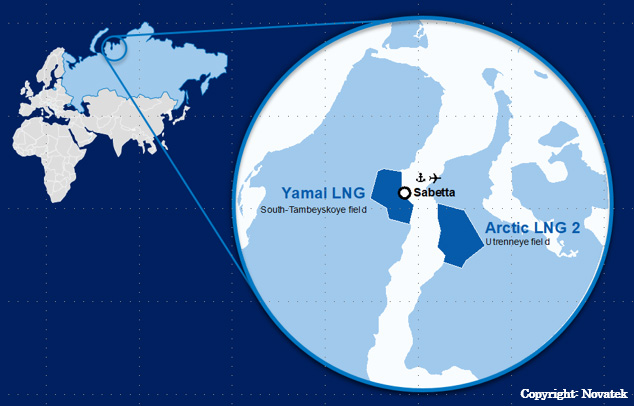 Location of Arctic LNG Project