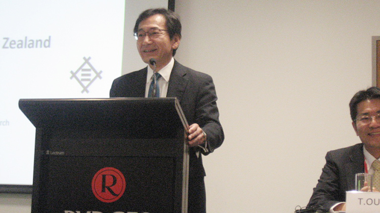 Yasushi Takahashi, EMO & CEO of Mitsui & Co. (Australia) at the Japan/New Zealand Business Council joint meeting