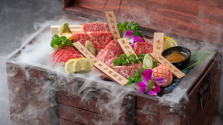 Japan-style barbeque meat, which has gained in popularity in China