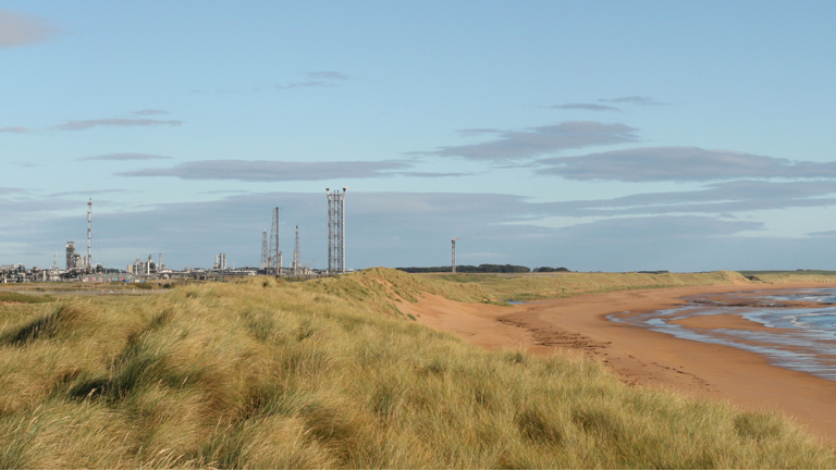 Planned construction site of Acorn Project's Onshore Plant